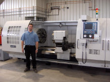 MODERN  TOOL  14  Inch  Spindle  Bore  CNC  Lathe